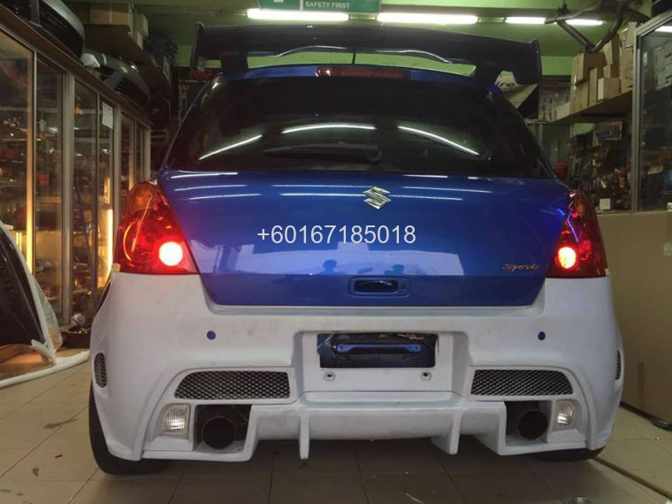 suzuki swift bumper rear tm square frp material