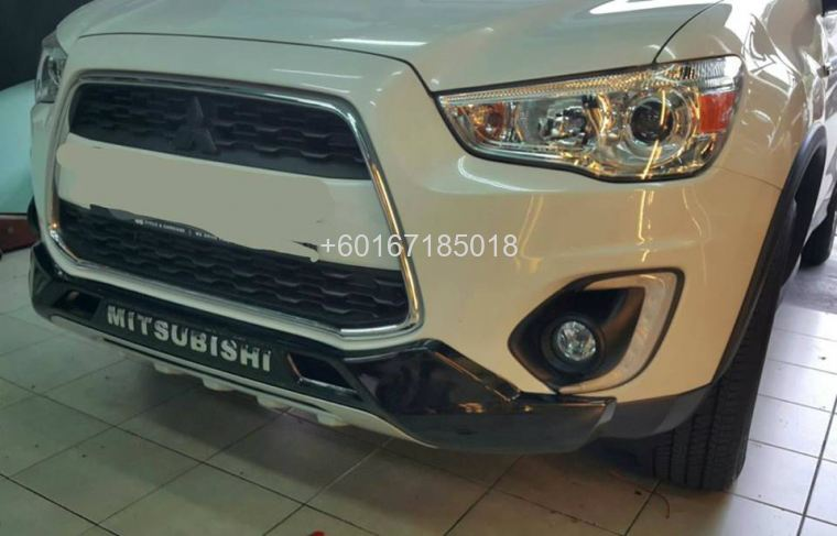 mitsubishi asx bumper guard front abs new