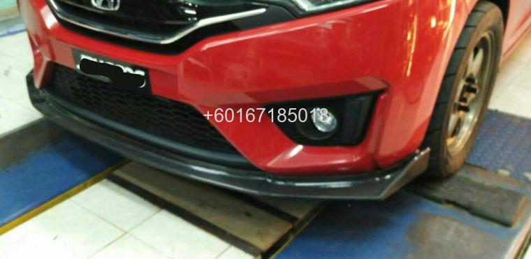 2016 Honda Jazz Gk Carbon Fibre Bumper Lip Spoon Sport New Johor
