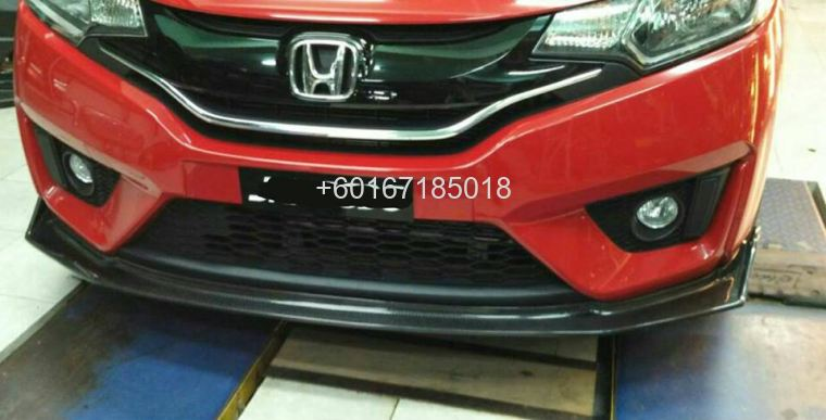 2017 honda jazz gk spoon carbon fibre bumper lip spoon sport