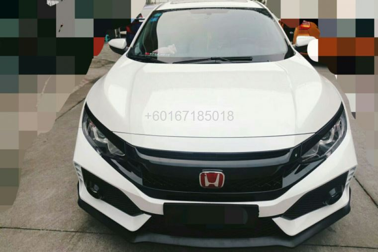 2017 honda civic fc bumper type r pp new