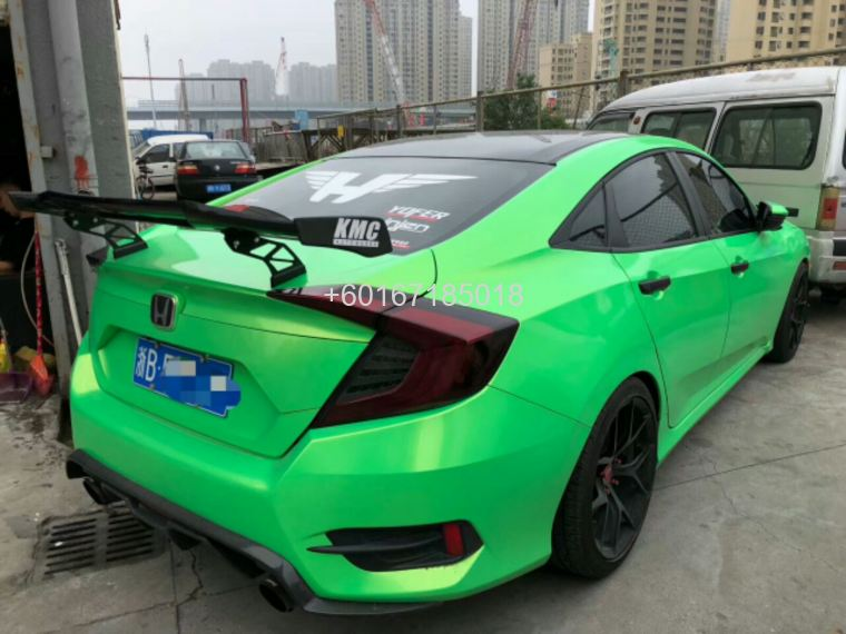 2016 2017 2018 honda civic fc spoiler wing type r  roof spoi
