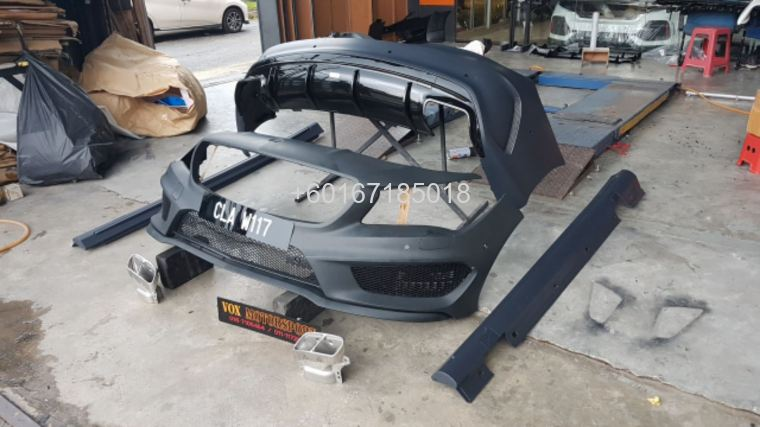 mercedes benz cla w117 a45 amg style full set bodykit for w1