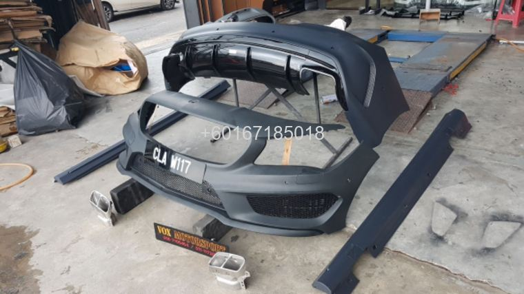 mercedes benz cla w117 a45 style bodykit for w117 upgrade re