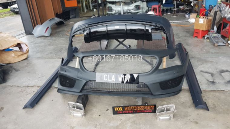 mercedes benz cla w117 bodykit a45 style for w117 upgrade re