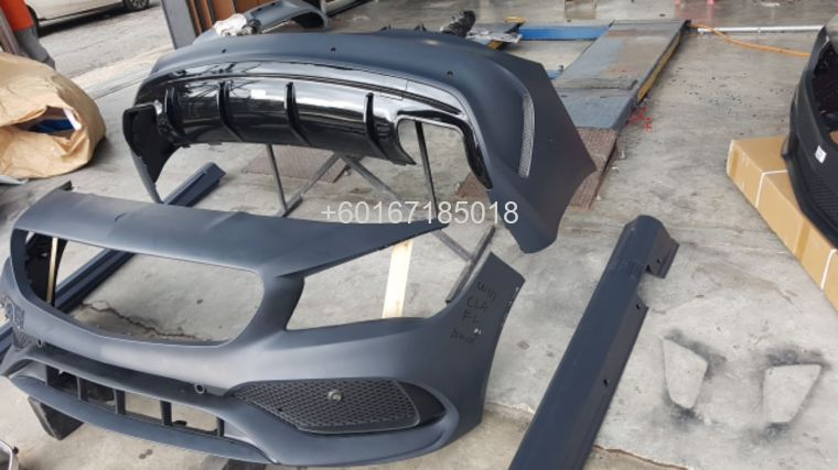 mercedes benz cla w117 bodykit a45 amg facelift style full s
