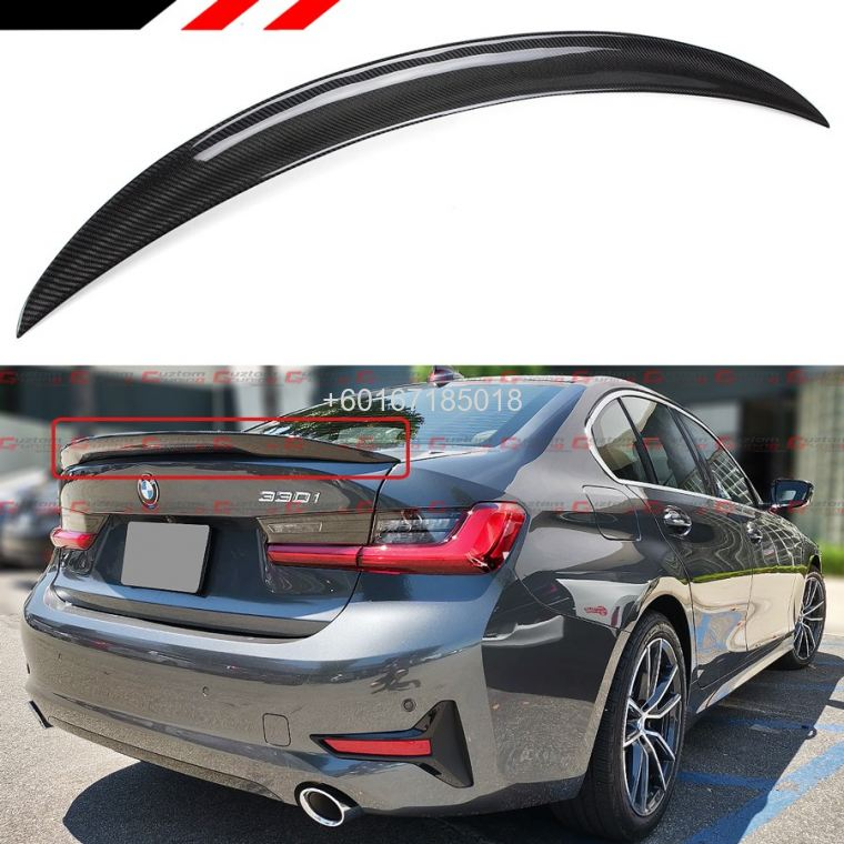 bmw 3 series g20 spoiler mp style add on upgrade performance