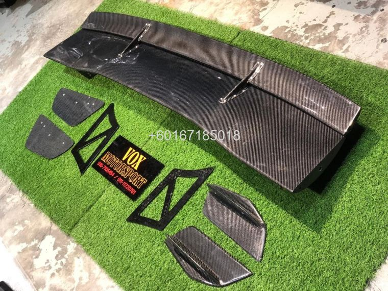 voltex type 5 style carbon fiber gt wing spoiler add on upgr