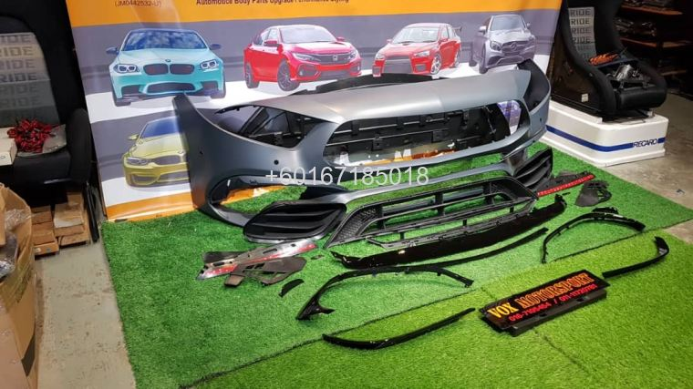 a45 front bumper pp material fit for mercedes benz a class w