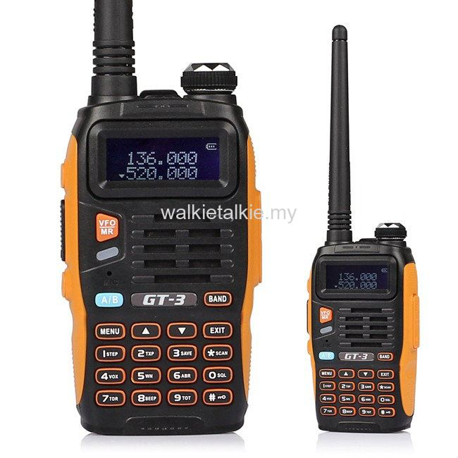 Baofeng GT-3 Dual Band UHF VHF Walkie Talkie