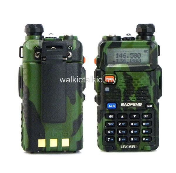 Baofeng UV-5R 5Watt Dual Band UHF VHF Walkie Talkie *Camoufl