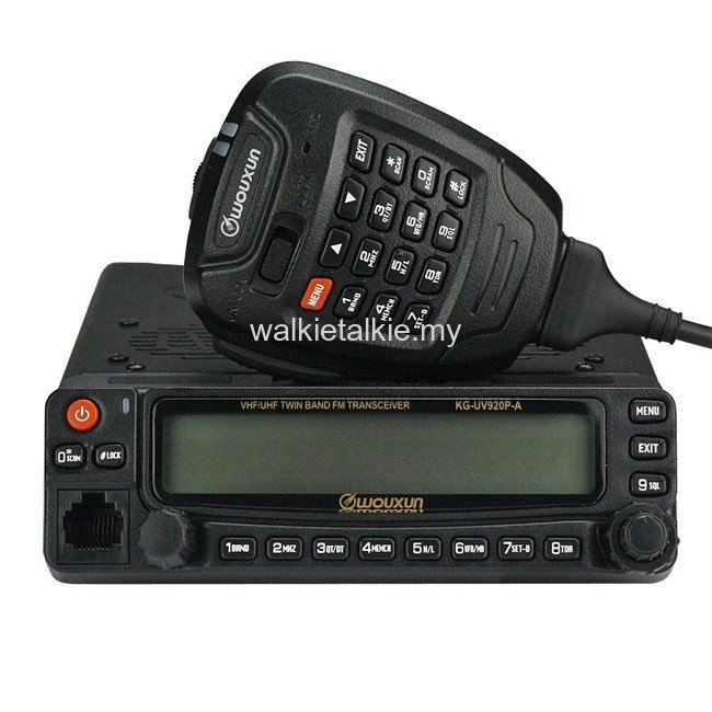 Wouxun KG-UV920P Dual Band UHF VHF Mobile Transceiver