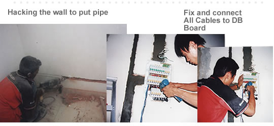 After that we will insert all the cables in to the pipe. Even for lighting point (illustrate picture) we also ensure all cables are organized in to pipes ... : concealed wiring pipes - yogabreezes.com