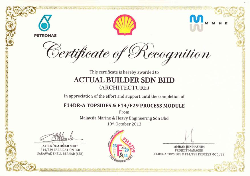 Certification Of Completion Johor Bahru Jb Johor Masai Malaysia
