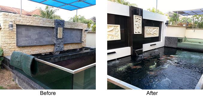 Tamasaba gold fish from japan johor bahru jb for Koi pond design malaysia