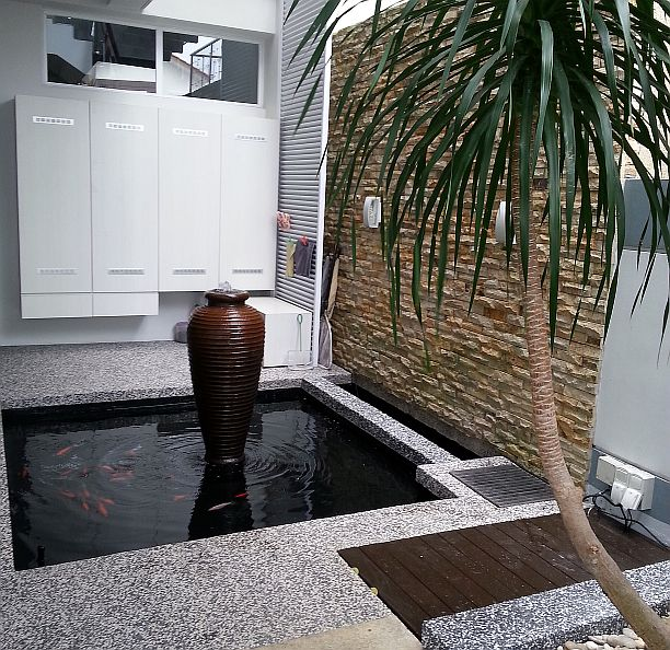 Improve filter system johor bahru jb malaysia supply for Koi pond design malaysia