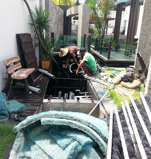 Service pond filter johor bahru jb malaysia supply for Pond filter cleaning maintenance
