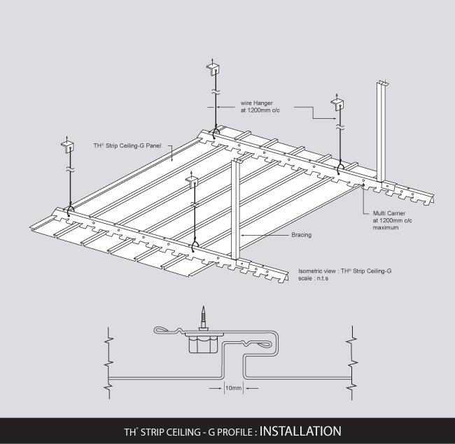 TH® Strip Ceiling - G Profile