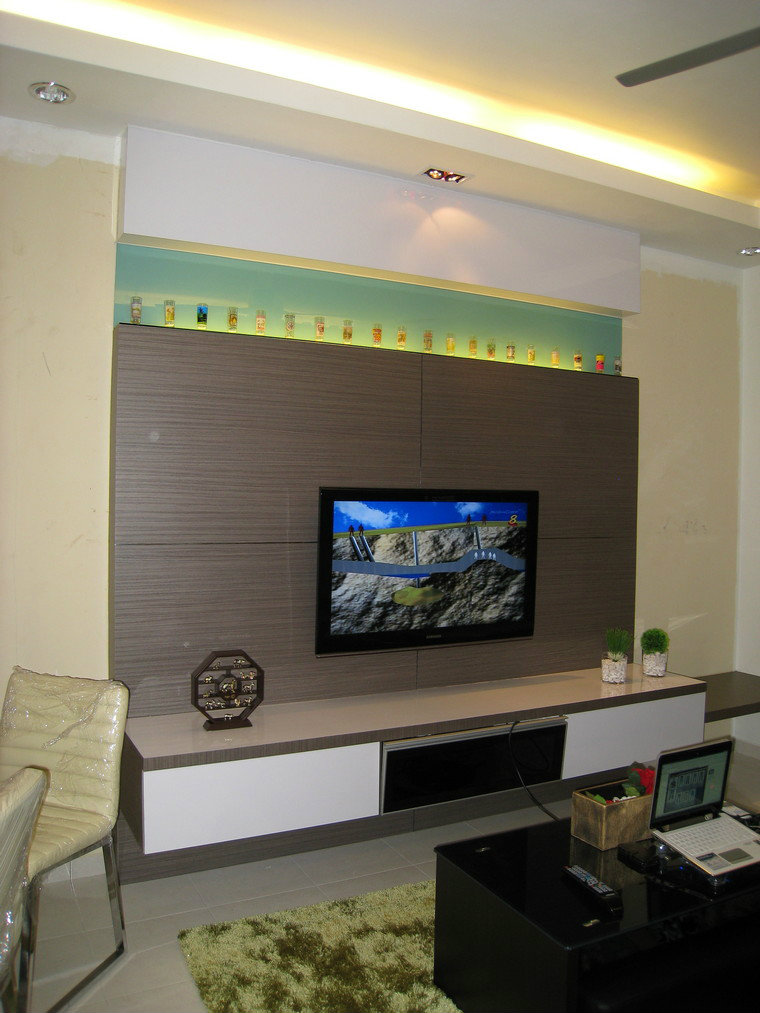 Tv cabinet designs for living room malaysia for In wall tv cabinet