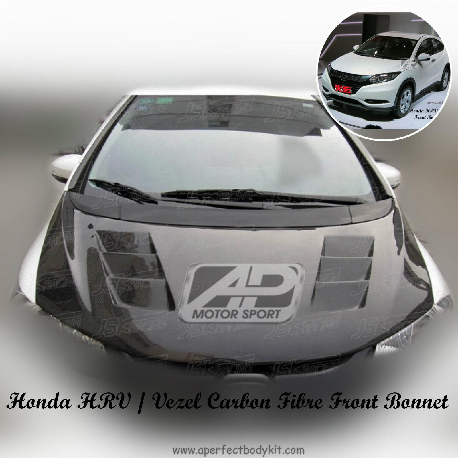 Honda HRV / Vezel Carbon Fibre Front Bonnet Carbon Fibre ...