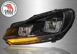 Volkswagen Golf 6 Projector LED Sequential Signal Headlamp 09-10