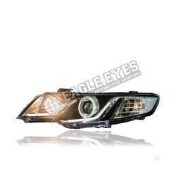 Kia Forte Projector LED Head Lamp 08-12 (Extreme LED Ring)