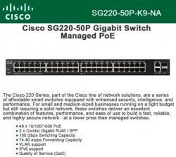 Cisco SG220-50P-K9-UK: 50-Port Gigabit PoE Smart Switch