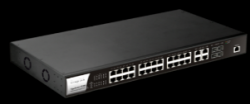 DrayTek VigorSwitch P2280: 28-Port Layer 2 Managed Gigabit PoE+ Switch