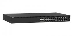 Dell EMC PowerSwitch N1124P-ON 24x 10/100/1000 Mbps (1 thru 12 PoE) Switch