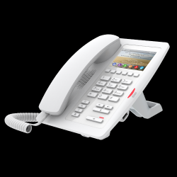 FANVIL H5 White : White Color Hotel IP Phone With Color Screen