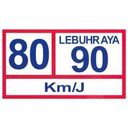 LEBUHRAYA STICKER-80/90