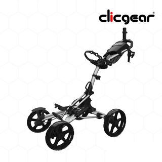 CLICGEAR Golf Cart 4 Wheel - MODEL 8.0+ Silver