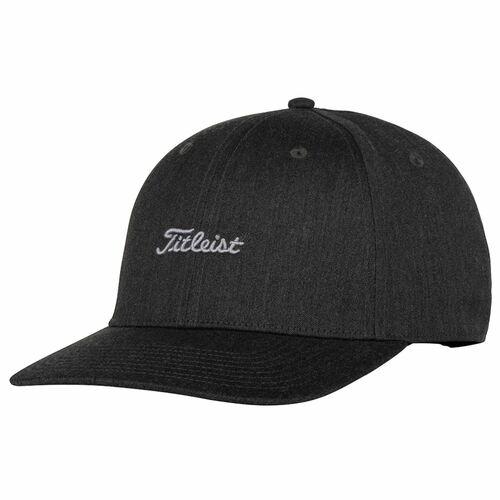 Titleist Nantucket Heather Semi Curve Golf Cap BLACK CHARCOAL