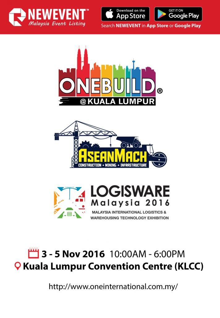 OneBuild, AseanMach, LogisWare 3 - 5 November 2016