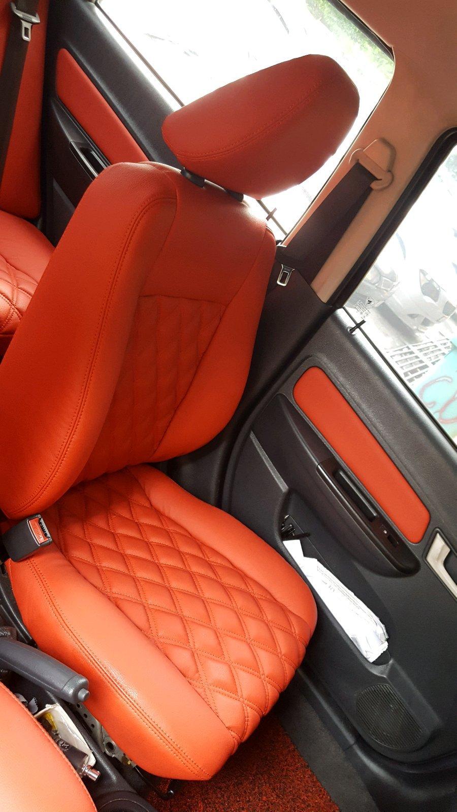 Leather seats installation