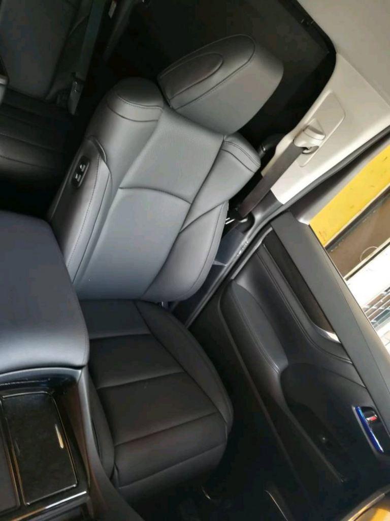 Leather seat installation