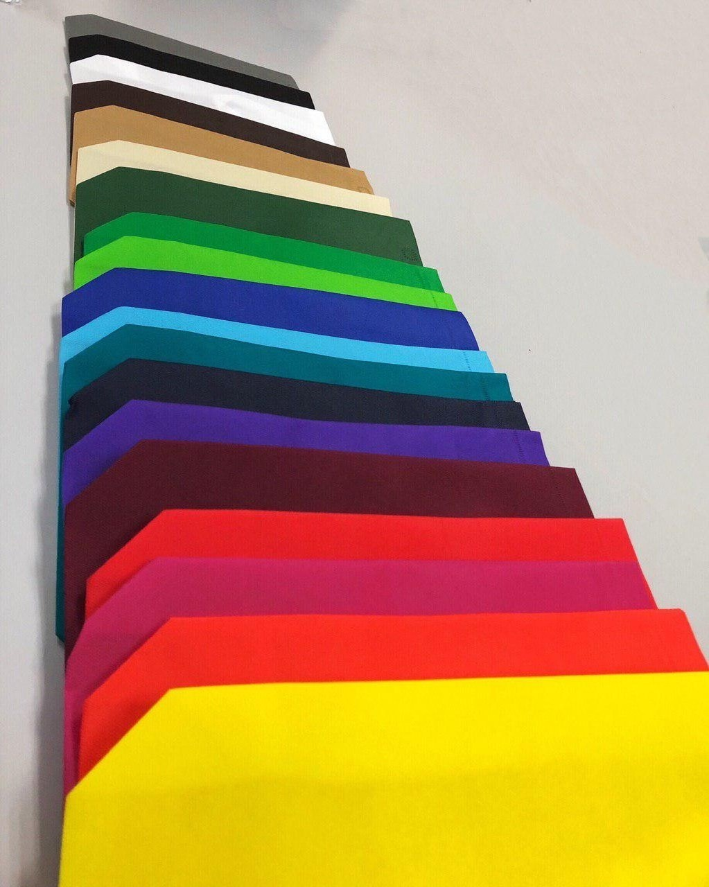 20 COLOURS AVAILABLE FOR NON-WOVEN BAG