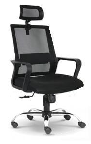 Mesh high back chair with chrome leg AIM108HC