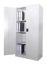 Full height steel cabinet with swing door