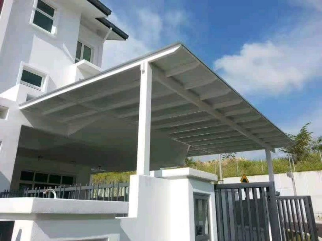 Installation roofing polycarbonate , aluminum, tempered glass & awning