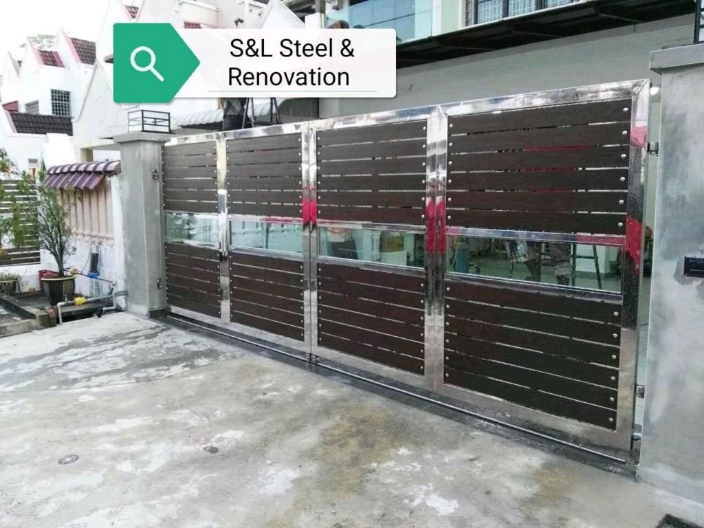 To supply & installation stainless steel gate door