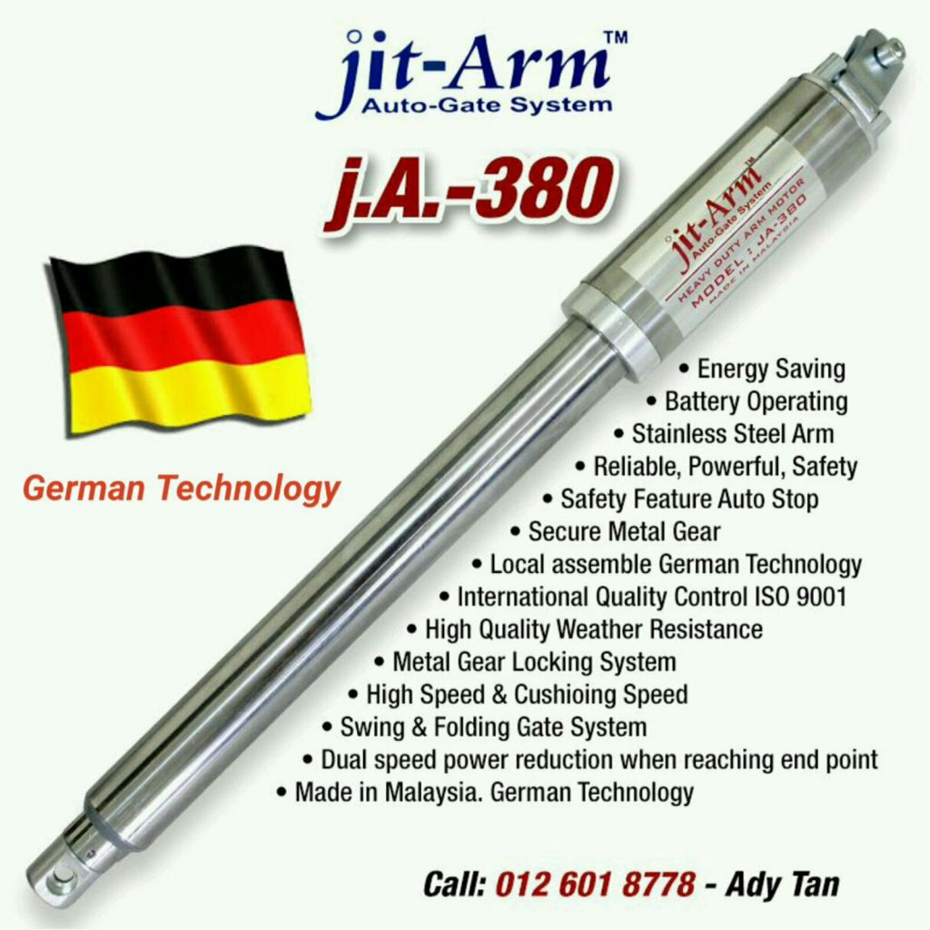 jit-Arm Auto Gate German Technology Metal Gear Locking System.