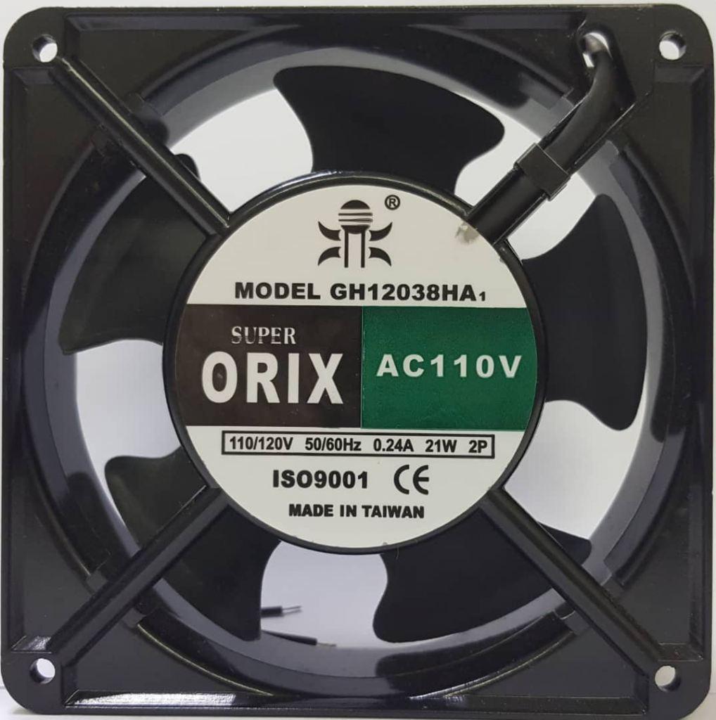 SUPER ORIX - AC Axial Fan, GH12038HA1SL, AC110V/120V 0.24A