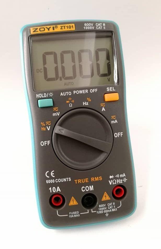 True RMS Digital Multimeter (Auto-range) ZT101, ZOYI