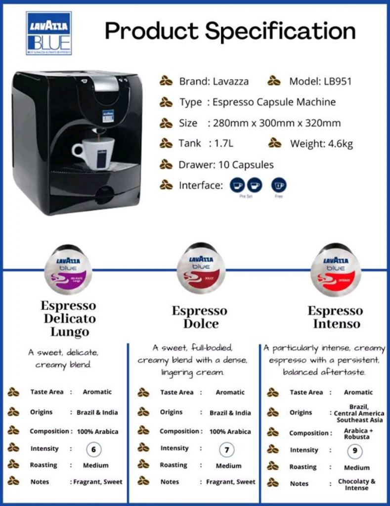 Lavazza Coffee Capsule & Machine LB-951