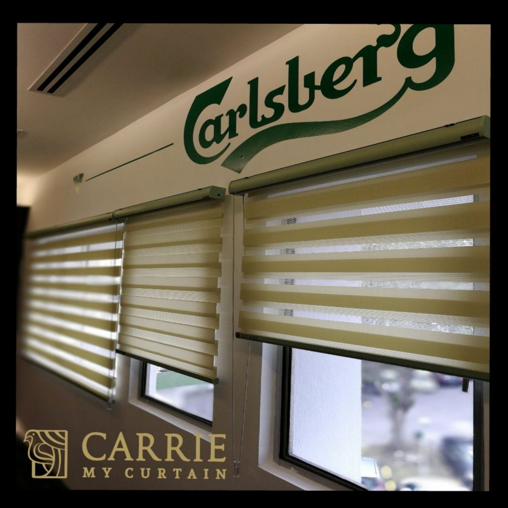 Install zebra blind for calsberg at shah alam
