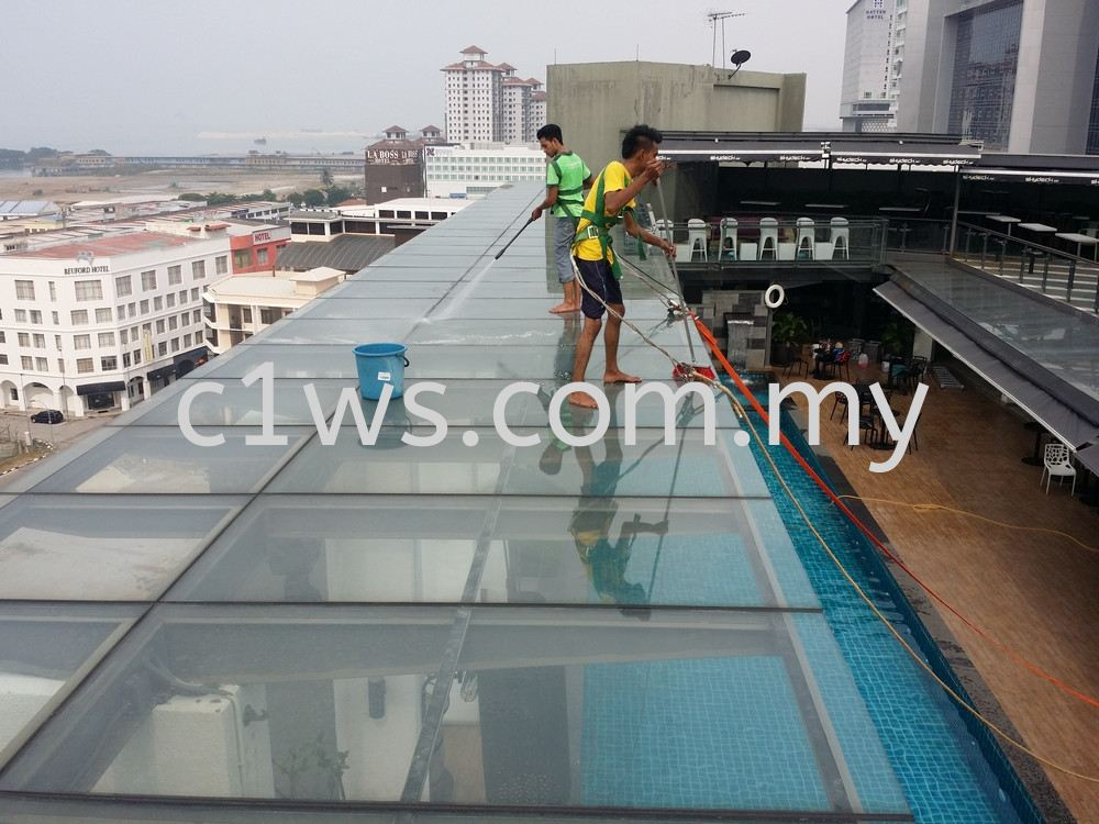 Clean Glass Awning