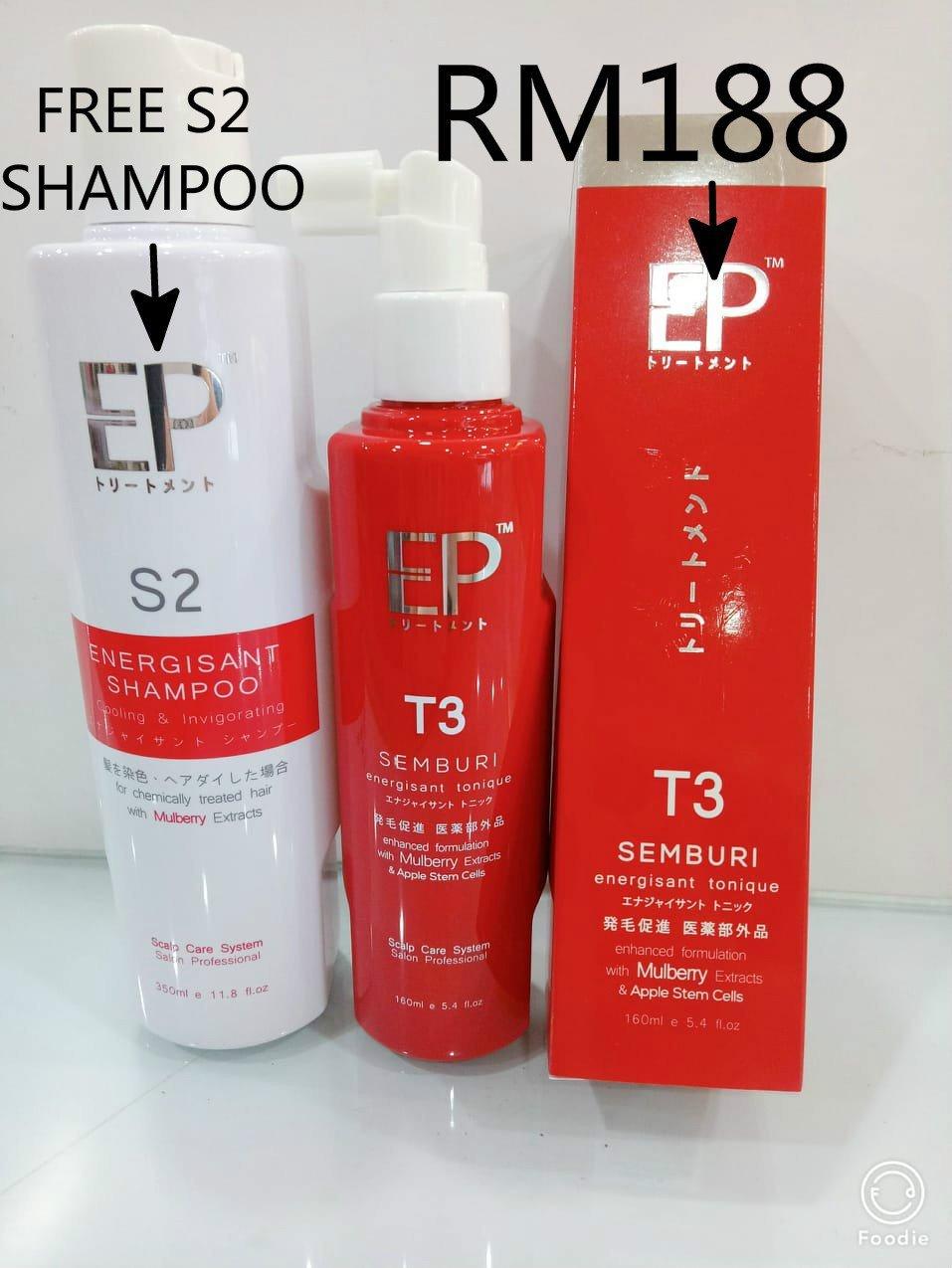 BUY  EP Energisant  T3 Tonic 160ML FREE  EP  Energisant S2  Shampoo 350ML