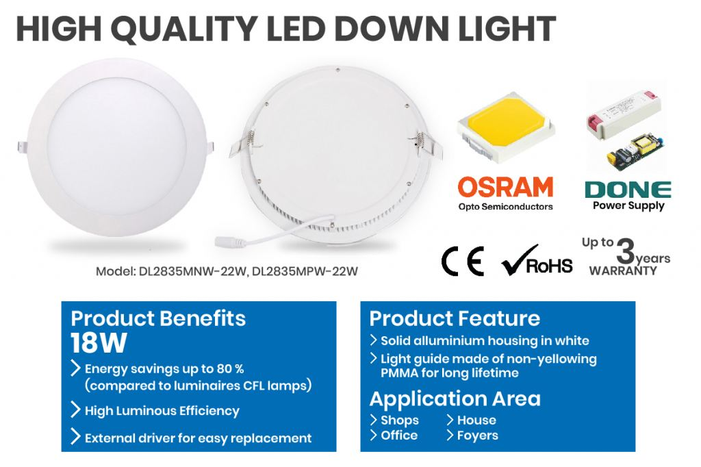 LED DOWN LIGHT Idea product for your environment