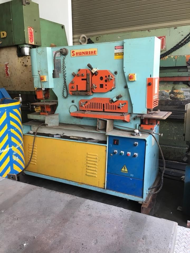 Used 'Sunrise' Hydraulic Steel-worker / Iron Worker